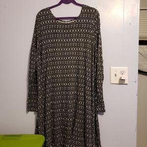 Old Navy long sleeve stretchy dress Size XXL